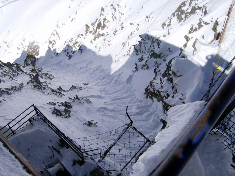 Toula scaletta ghiacciaio freeride