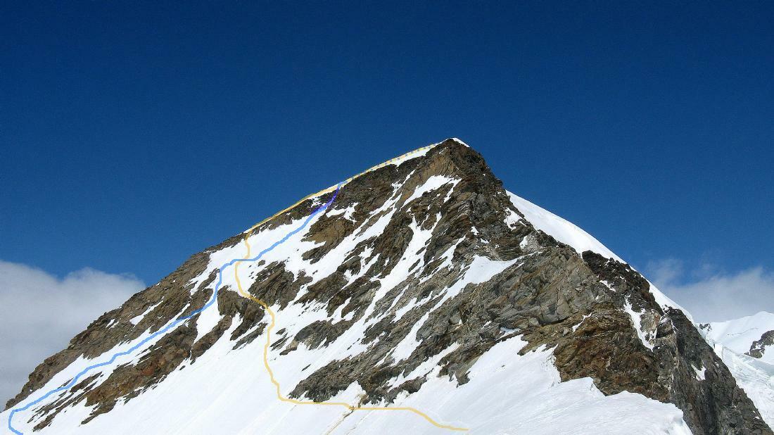 Vista punta Giordani dalla cresta Vincent