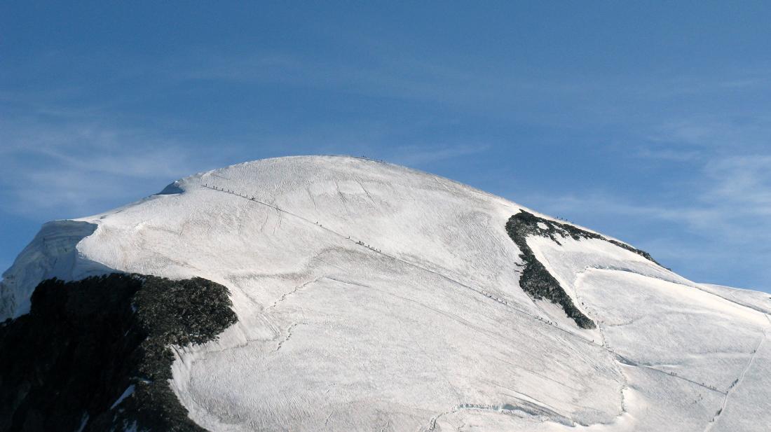Lemmings sulla diagonale del Breithorn