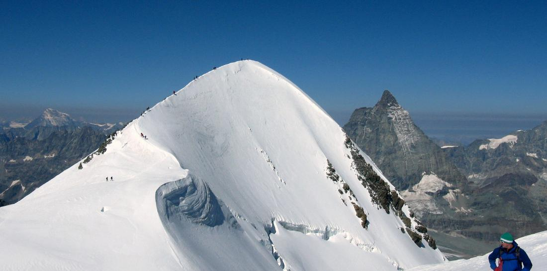 La splendida Nord del Breithorn occidentale